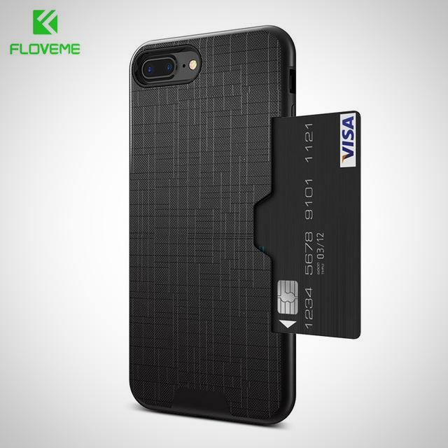UNIQUE Luxury Hide Your Card Slot Phone Case For iPhones ONLY