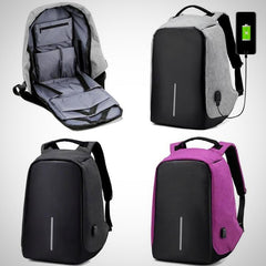 The Best Waterproof ANTI-THEFT USB Charge Port  & Concealed Zippers Backpack