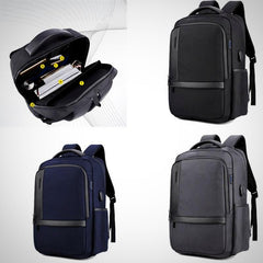 Laptop Waterproof Backpack With USB Charging Port