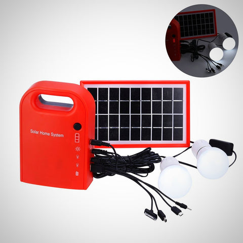 Portable Solar Panel Power Generator USB Cable Battery Charger