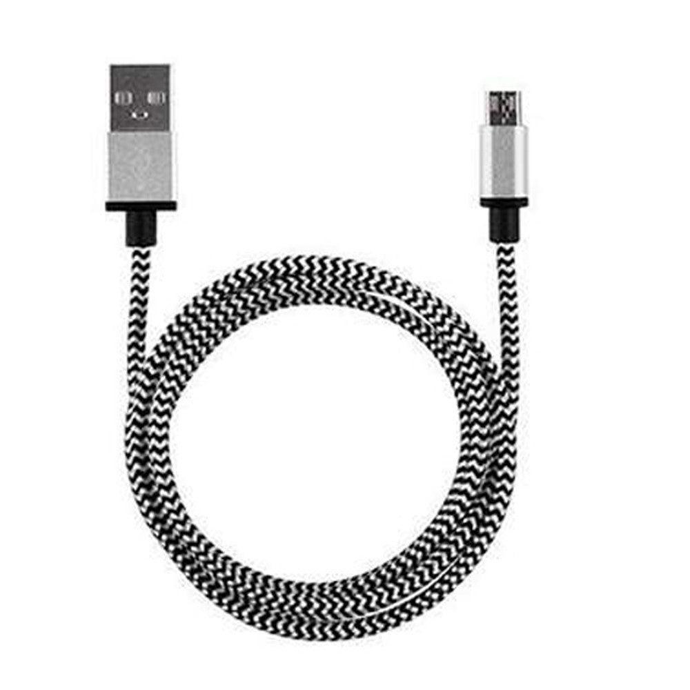 Micro USB Data & Sync faster Braided Charge Cable