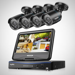 8-Channel 4 in 1 Security Camera System with 10.1 inch Monitor