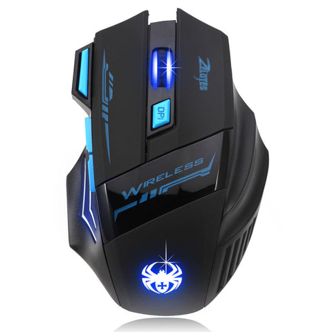 Adjustable 2400DPI Optical Wireless Gaming Mouse For Your Laptop
