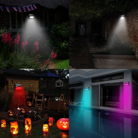 12 LED Colorful Security Solar Wall Lamp Solar