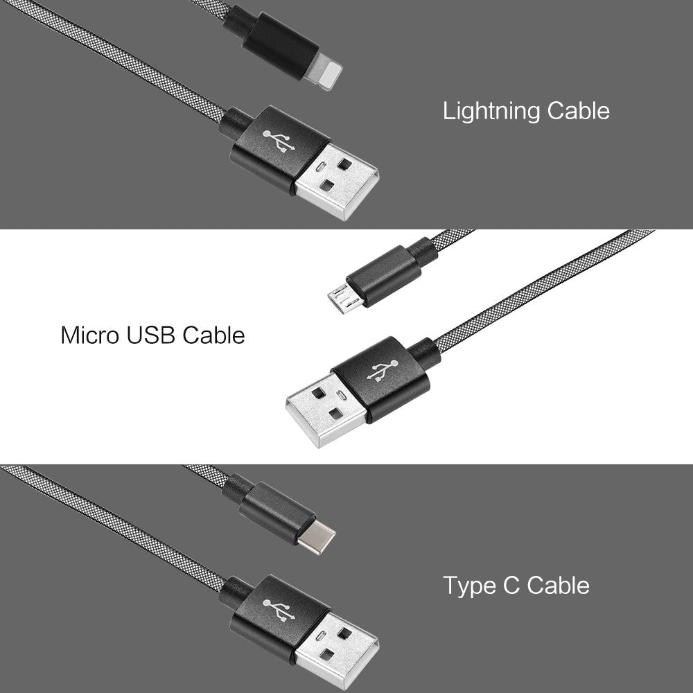 Cable Nylon Braided USB C to USB A Charging Cord for Smart Phones