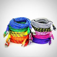 Extra Long Charge Cable In Assorted Colors