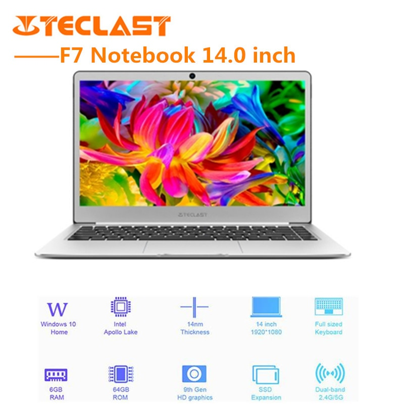 Teclast F7 Notebook 14.0'' Windows 10 Laptop