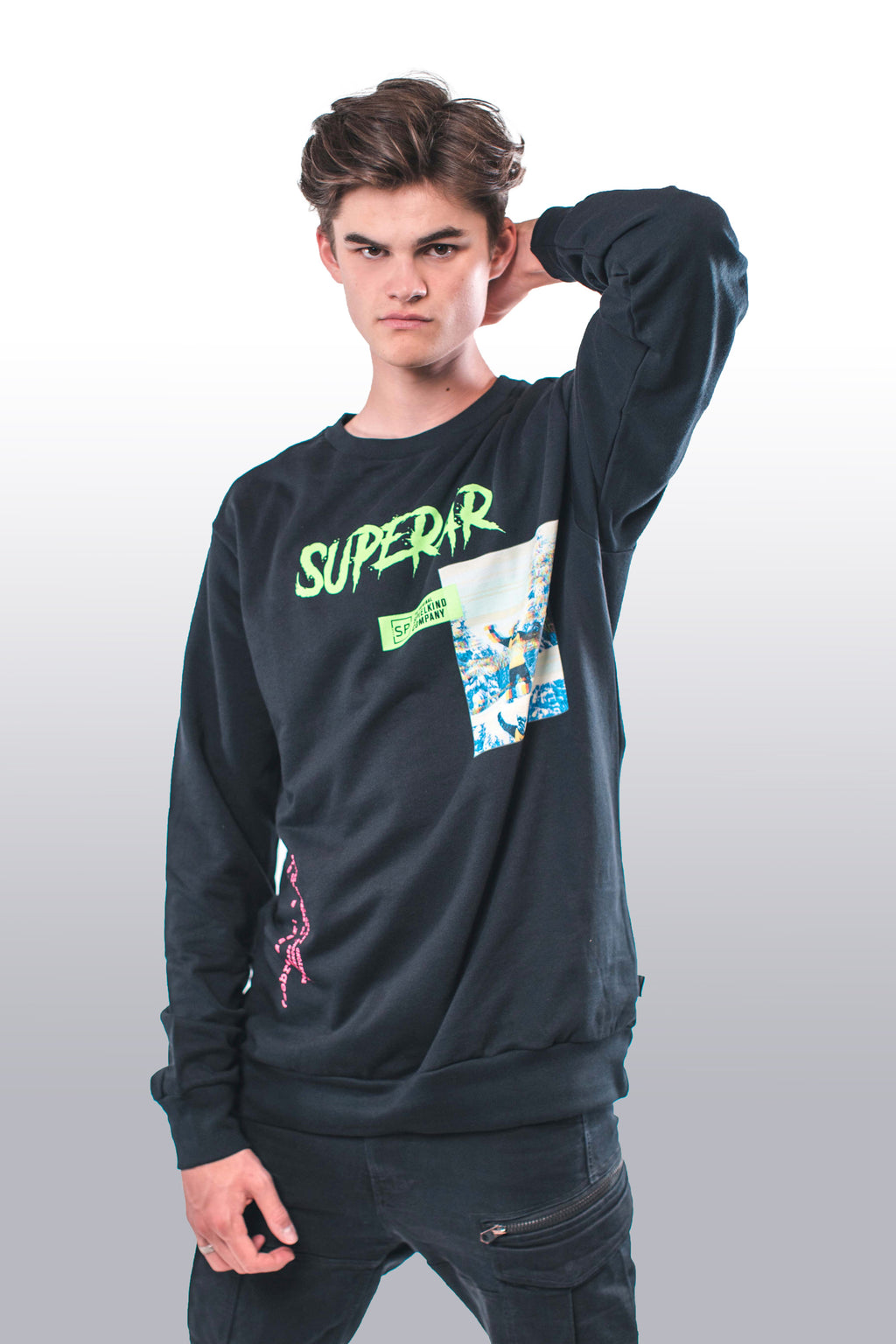 GLITCH SWEATER by SPIELKIND SUPERAR (6068981661845)