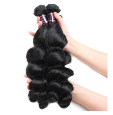 Peruvian Loose Wave Virgin Hair 3 Bundles with 360 Lace Frontal Closure - Easy Hair
