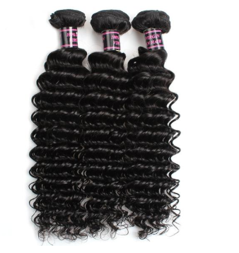 Easy Hair Brazilian Deep Wave Virgin Hair 3 Bundles With 360 Lace Frontal Closure - Easy Hair