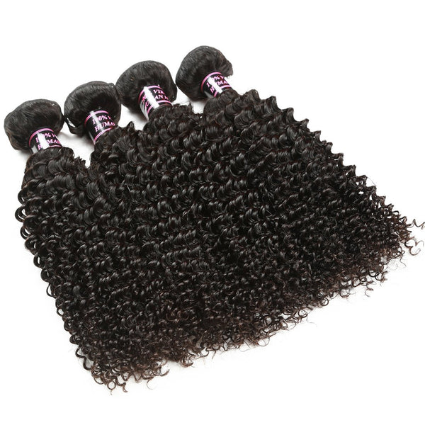 Easy Hair Brazilian Kinky Curly Virgin Human Hair Weave 4 Bundles - Easy Hair