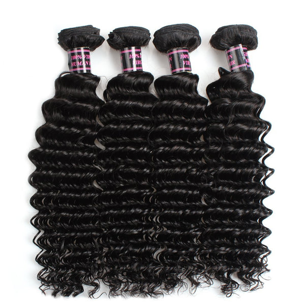 ishow peruvian deep wave virgin human hair bundles 4 pcs lot