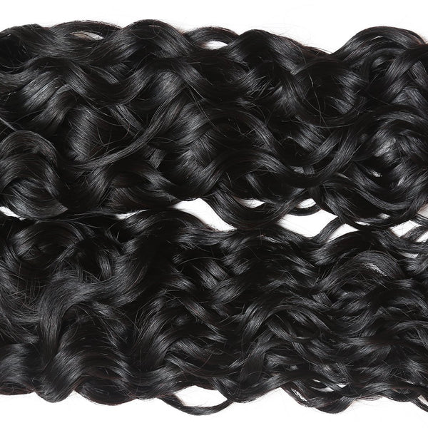 Ishow Malaysian Virgin Human Hair Water Wave Hair Extensions 3 bundles Natural color
