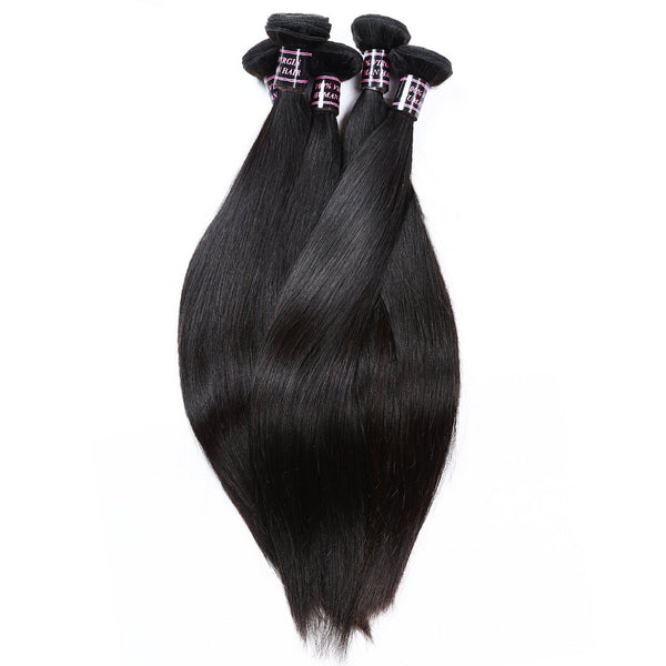Easy Hair Virgin Indian Straight Hair 4 Bundles Human Hair Extensions - Easy Hair