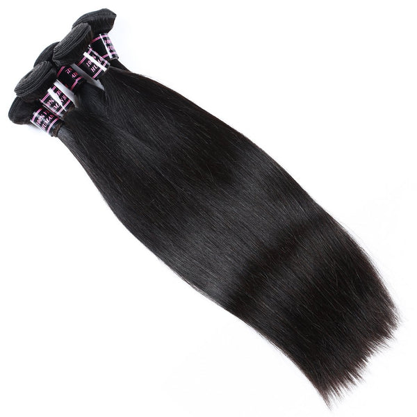 Easy Hair Brazilian Virgin Straight Hair 3 Bundles Unprocessed Human Hair Weave - Easy Hair