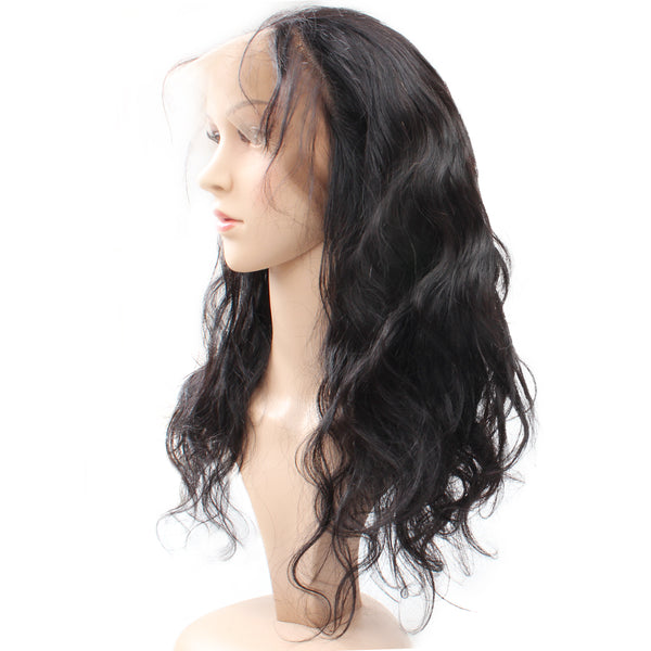 Malaysian Body Wave Human Hair 360 Lace Frontal Closure 1pc/lot - Easy Hair