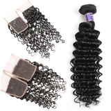 allove peruvian virgin hair deep wave 4 bundles with lace closure