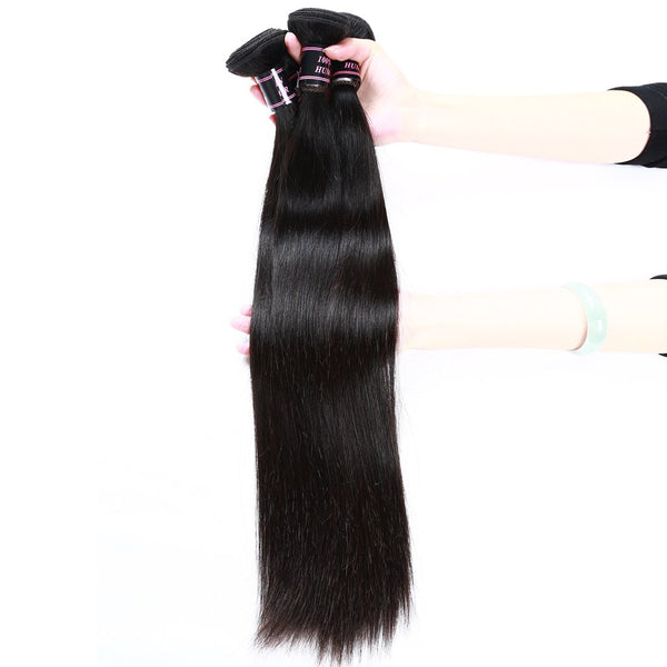 Ishow Malaysian Straight Hair 3 Bundles Virgin Human Hair Natural Color Hair - Easy Hair