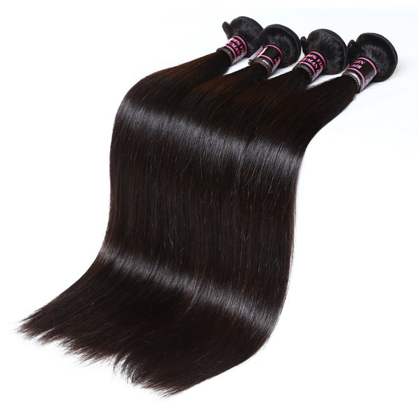 Easy Hair Peruvian Straight Human Hair Weave 4 Bundles - Easy Hair