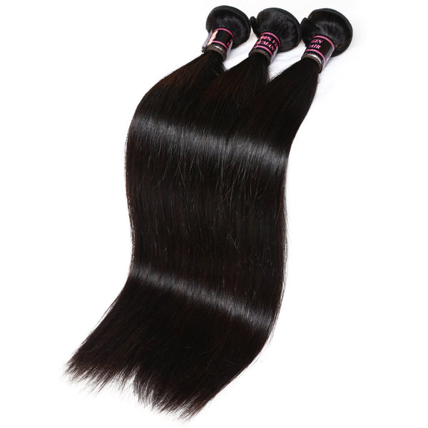 Easy Hair  Malaysian Straight Hair 3 Bundles Virgin Human Hair Natural Color Hair - Easy Hair