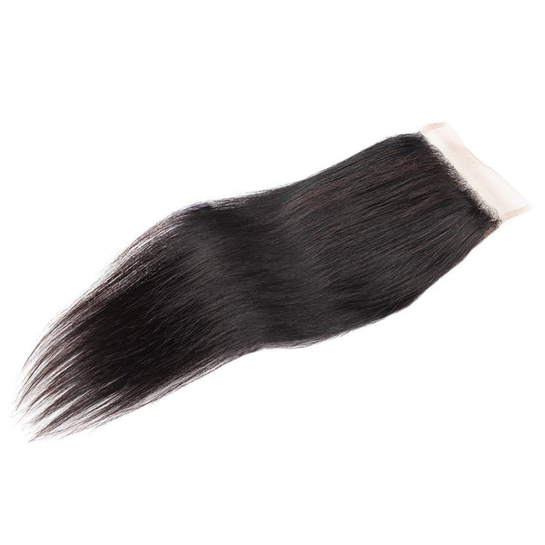 Easy Hair Malaysian Straight Virgin Human Hair Lace Closure 4X4 Natural Color - Easy Hair