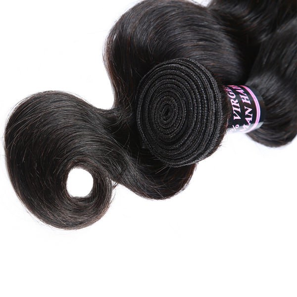 Easy Hair Virgin Human Hair Malaysian Body Wave Hair 3pcs/Lot Natural Color - Easy Hair