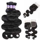 allove peruvian body wave hair 4 bundles with cheap lace closure