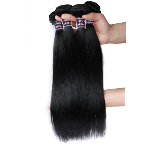 ishow hair virgin indian straight hair 4 bundles human hair extensions