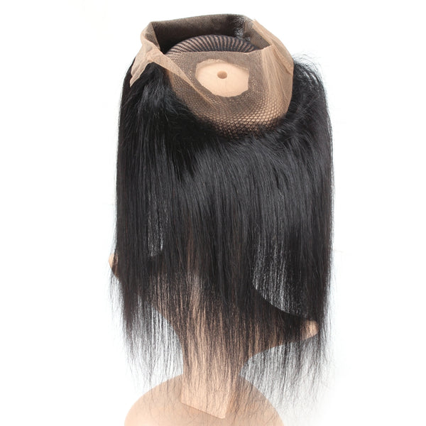 Easy Hair Indian Straight Human Hair Weave 360 Lace Frontal Closure 1pc/lot - Easy Hair