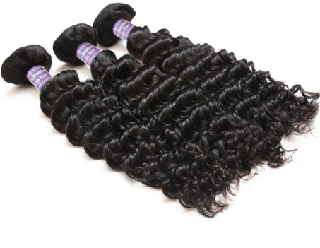 Brazilian Deep Wave Virgin Hair 3 Bundles With 360 Lace Frontal Closure - Easy Hair