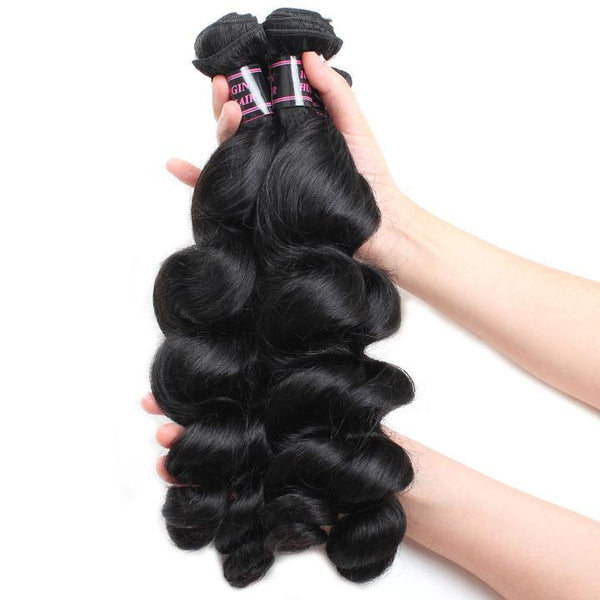 ishow peruvian virgin hair loose wave unprocessed extensions 3pcs lot