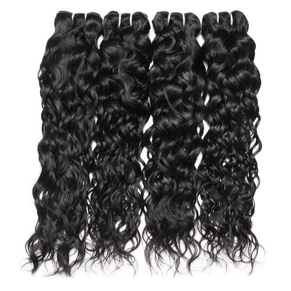 Easy Hair Brazilian Water Wave Hairstyles 4 Bundles with Lace Hair Closure - Easy Hair