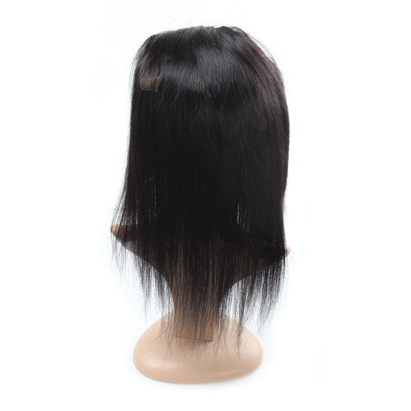 Malaysian Straight Human Hair 360 Lace Frontal Closure 1pc/lot - Easy Hair