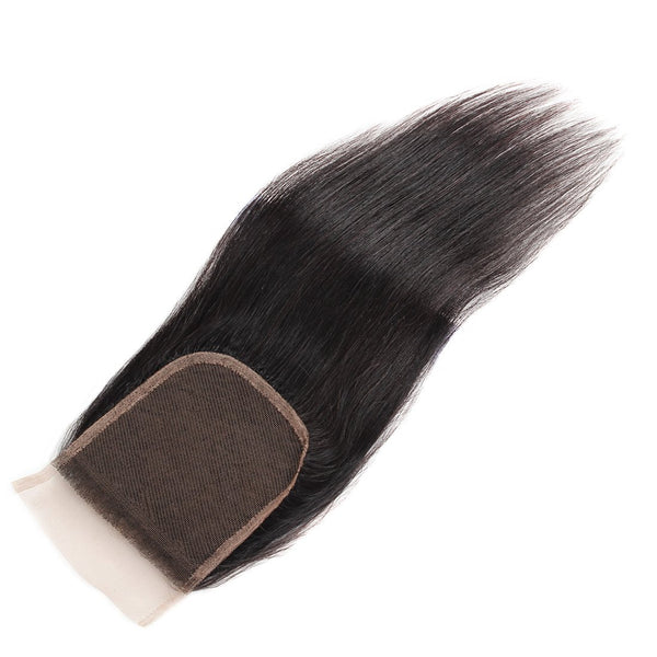 Malaysian Straight Virgin Human Hair Lace Frontal 4X4 Natural Color - Easy Hair