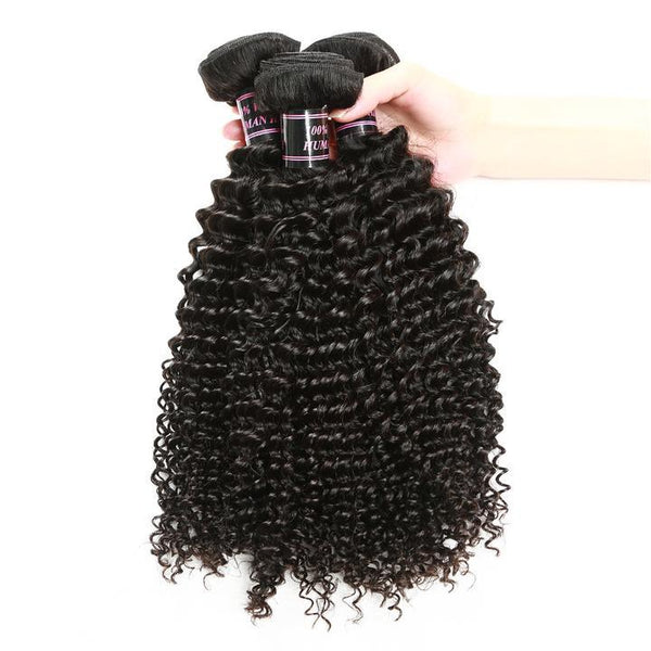Easy Hair Malaysian Curly Hair Wave 4 Bundles Virgin Human Hair Natural Color - Easy Hair