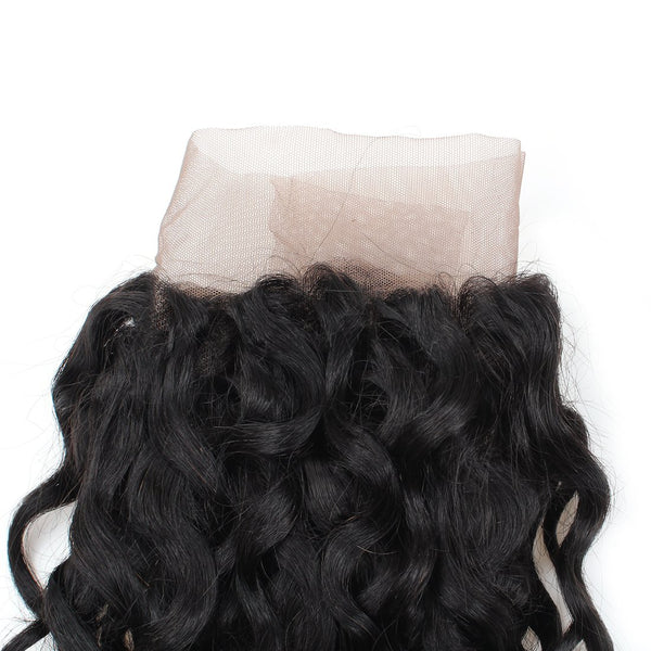 Brazilian Virgin Hair Water Wave Lace Frontal 13x4 Ear To Ear Lace Closure - Easy Hair