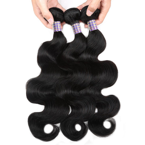 Easy Hair 10A Best Virgin Indian Body Wave Hair 3 Bundles With Lace Closure - Easy Hair