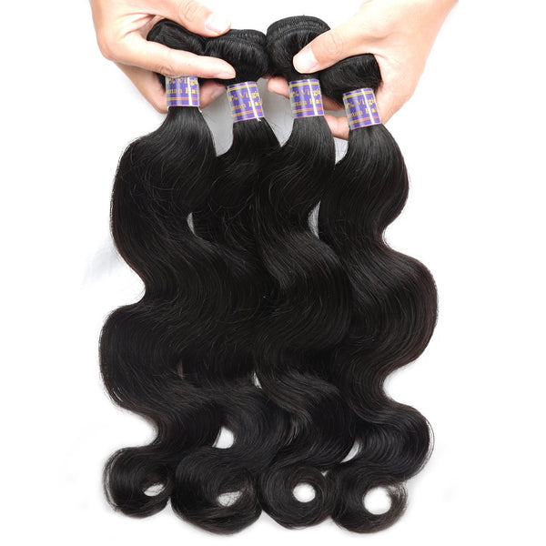 Easy Hair 10A Brazilian Body Wave Hair 4 Bundles With Lace Closure - Easy Hair