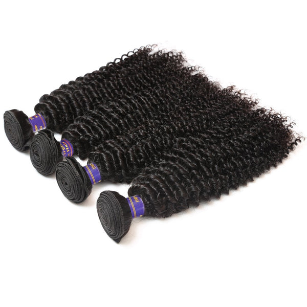 Easy Hair 10A High Quality Peruvian Unprocessed Virgin Kinky Curly 4 Bundles Human Hair Weave - Easy Hair