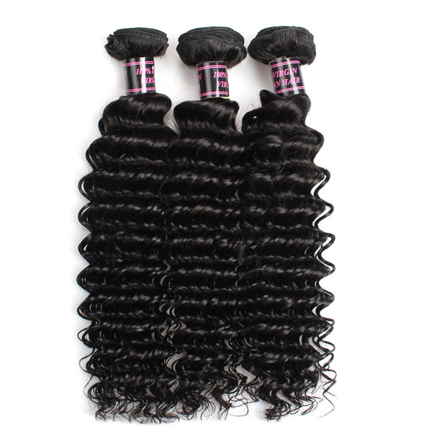 Easy Hair Hot Sell Deal Peruvian Deep Wave Curly Hair 3 Bundles Deal Extensions - Easy Hair