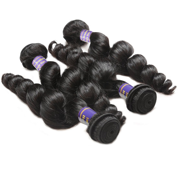 allove malaysian loose wave human hair weave hairstyles 4pcs lot