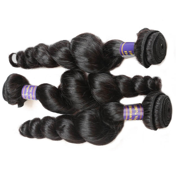 Easy Hair 10A Grade Indian Virgin Human Hair Loose Wave Hair 3pcs/lot - Easy Hair