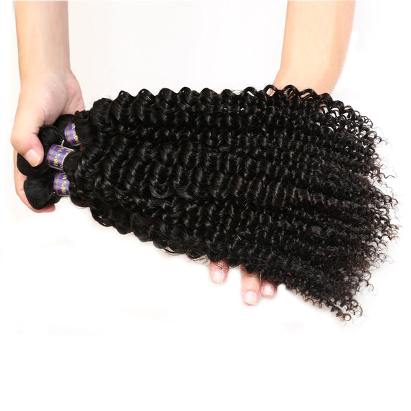 cheap indian kinky curly virgin human remy hair 3 pcs lot