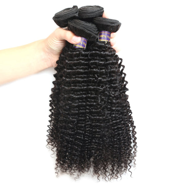 Easy Hair 10A Grade Unprocessed Brazilian Kinky Curly Virgin Human Hair 4 Bundles Weave - Easy Hair