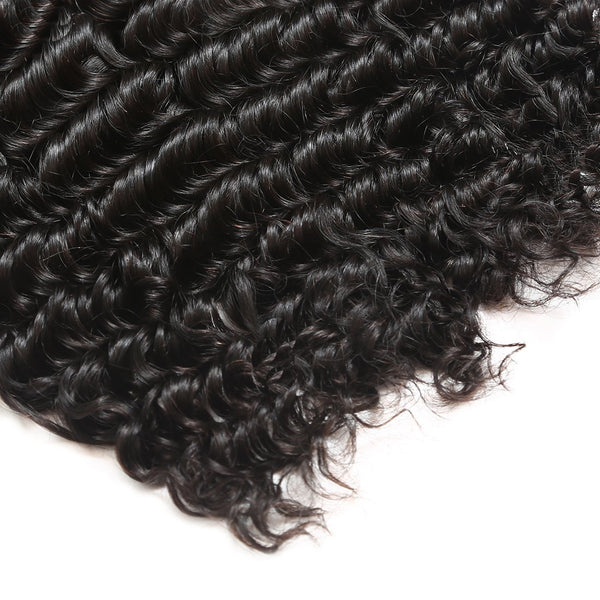 Easy Hair 10A Peruvian Virgin Hair Deep Wave 4 Bundles With Lace Closure Unprocessed Human Hair Bundles - Easy Hair