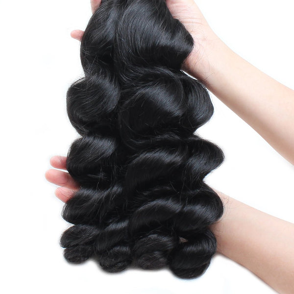 Easy Hair Brazilian Virgin Hair Loose Wave Hair Weave Bundles 4pcs/Lot - Easy Hair