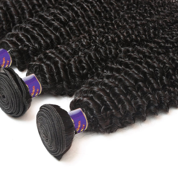 Allove Indian Kinky Curly Virgin Hair Bundles Unprocessed Human Hair Weave 4pcs/lot