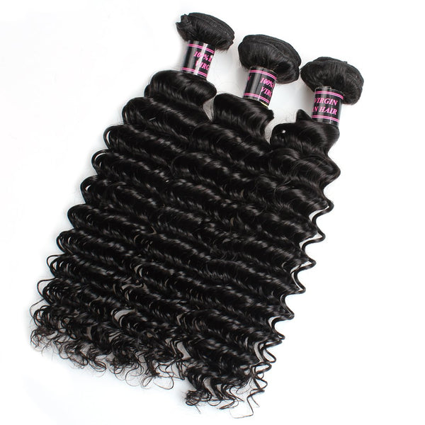 Easy Hair Indian Deep Wave Bundle Deals 3pcs/lot Extensions - Easy Hair