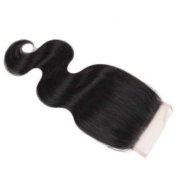 Easy Hair Peruvian Virgin Hair Body Wave Lace Closure 4x4 Swiss Lace Closure - Easy Hair