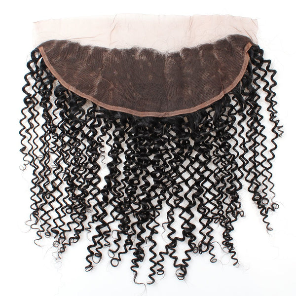 Easy Hair Peruvian Curly Virgin Human Hair 13X4 Lace Frontal Closure 1pc/lot - Easy Hair